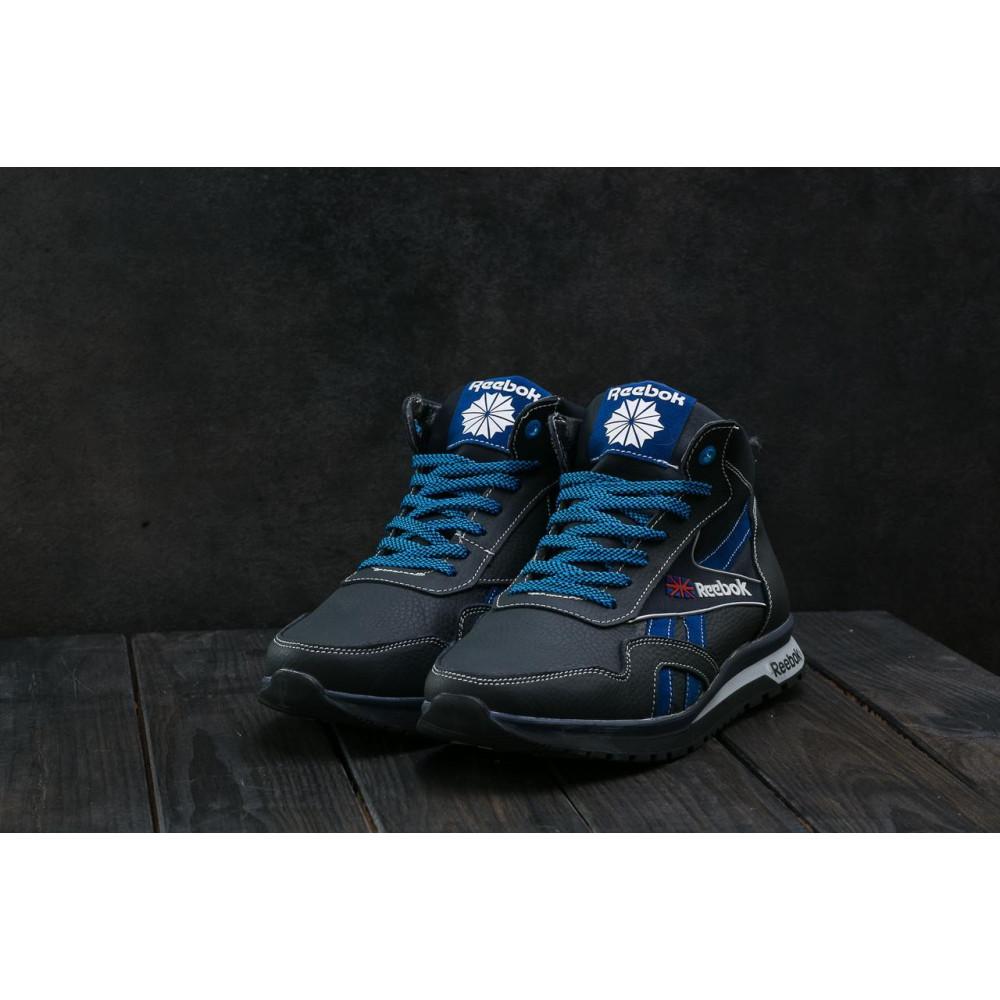 Зимние кроссовки мужские - Мужские кроссовки кожаные зимние синие-голубые CrosSAV 50 9