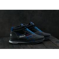 Мужские кроссовки кожаные зимние синие-голубые CrosSAV 50