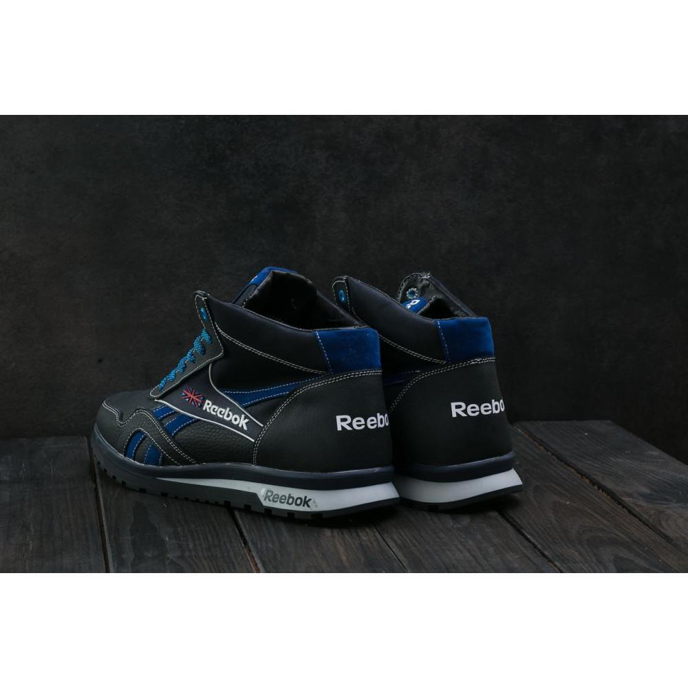 Зимние кроссовки мужские - Мужские кроссовки кожаные зимние синие-голубые CrosSAV 50 8