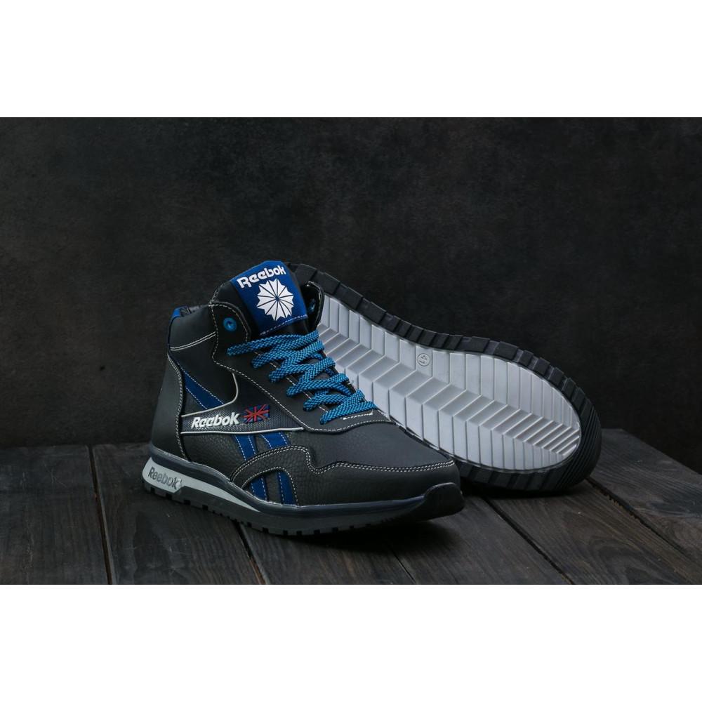 Зимние кроссовки мужские - Мужские кроссовки кожаные зимние синие-голубые CrosSAV 50 7