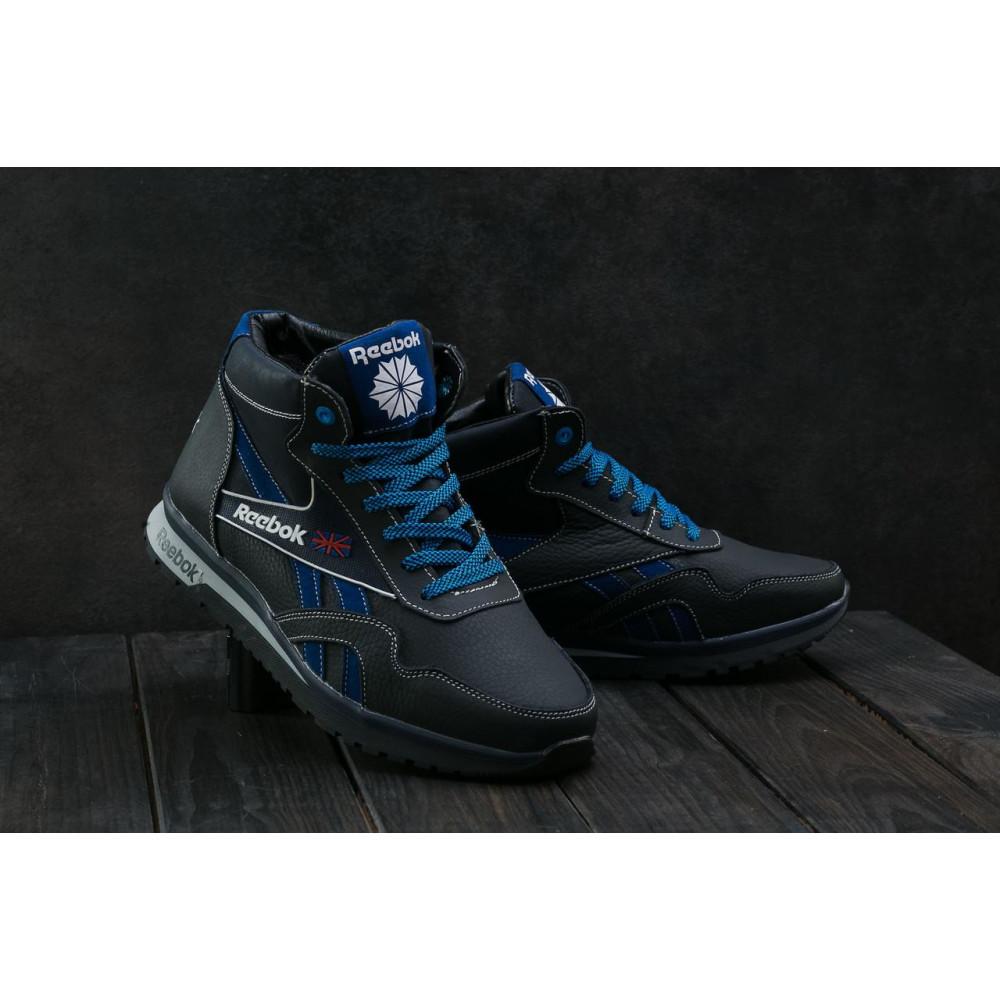 Зимние кроссовки мужские - Мужские кроссовки кожаные зимние синие-голубые CrosSAV 50 6