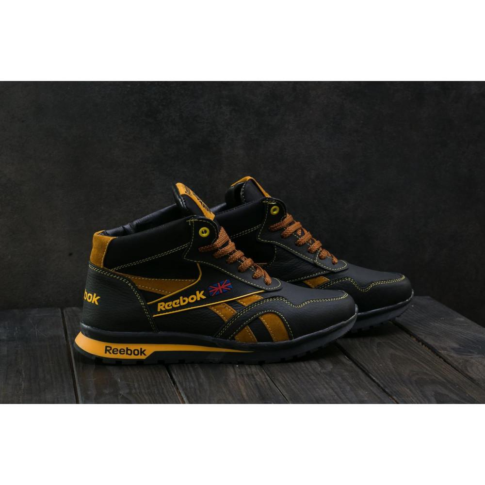 Зимние кроссовки мужские - Мужские кроссовки кожаные зимние черные-рыжие CrosSAV 50 3