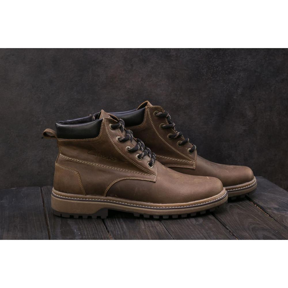 Мужские ботинки зимние - Мужские ботинки кожаные зимние оливковые Yuves 444 1