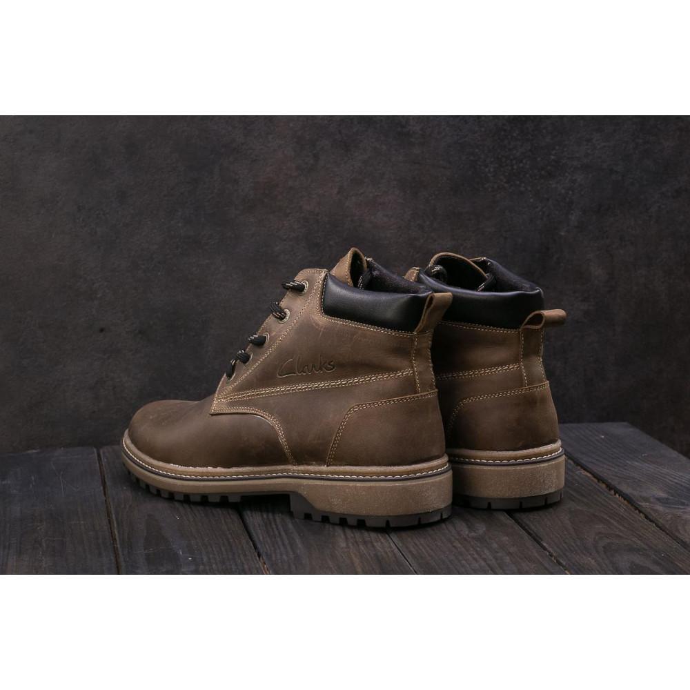 Мужские ботинки зимние - Мужские ботинки кожаные зимние оливковые Yuves 444 2
