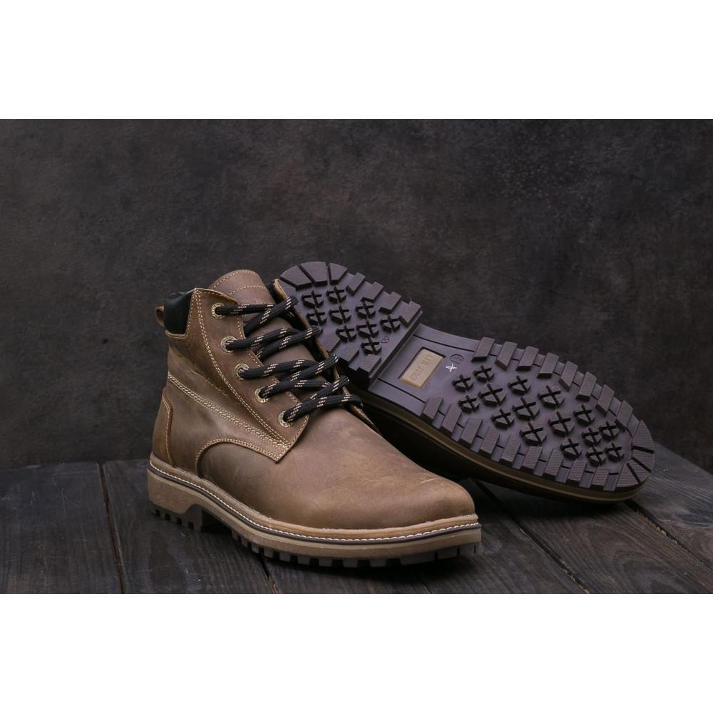 Мужские ботинки зимние - Мужские ботинки кожаные зимние оливковые Yuves 444 3
