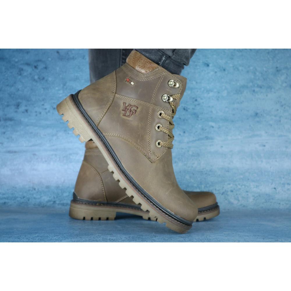 Мужские ботинки зимние - Мужские ботинки кожаные зимние оливковые Udg 741 3