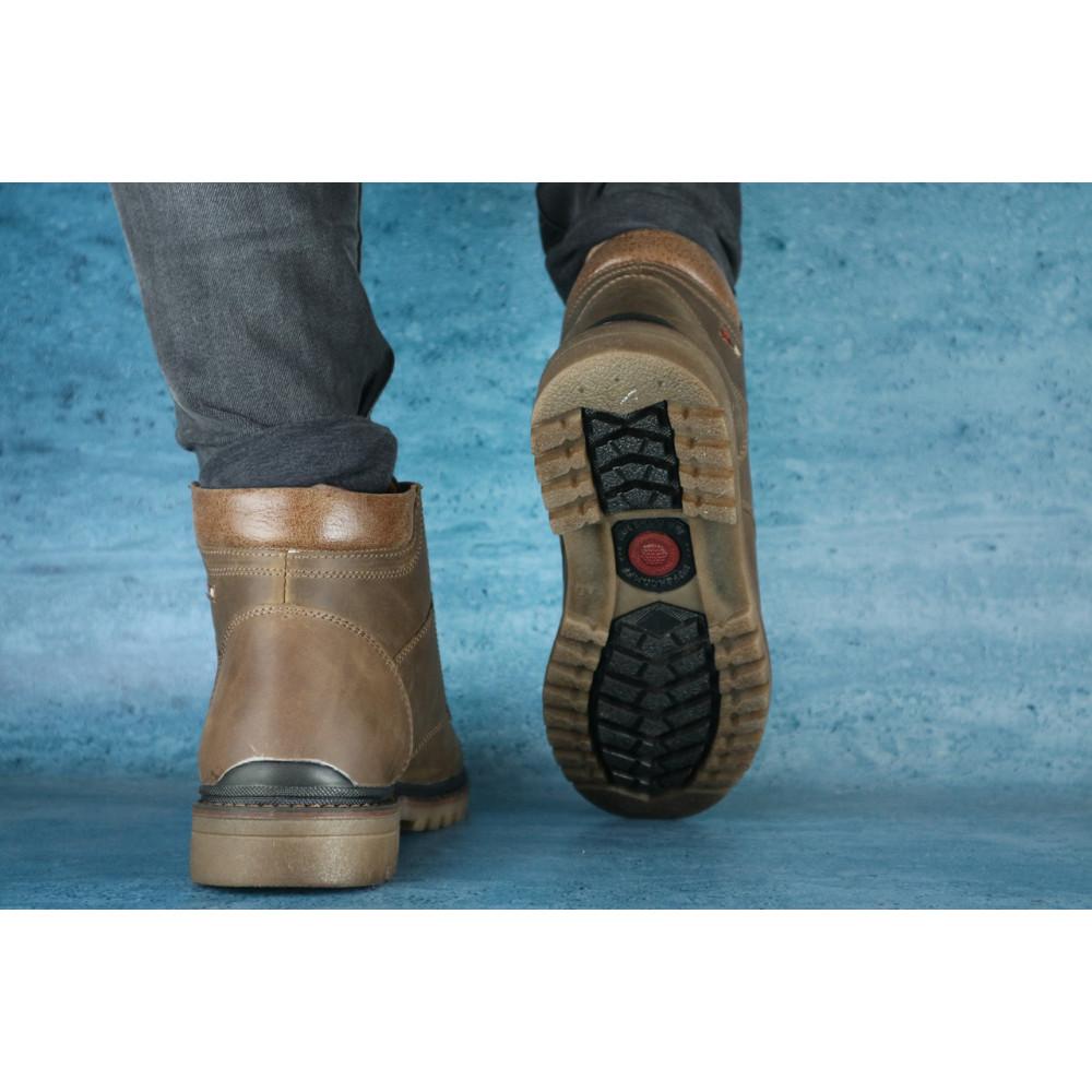 Мужские ботинки зимние - Мужские ботинки кожаные зимние оливковые Udg 741 2