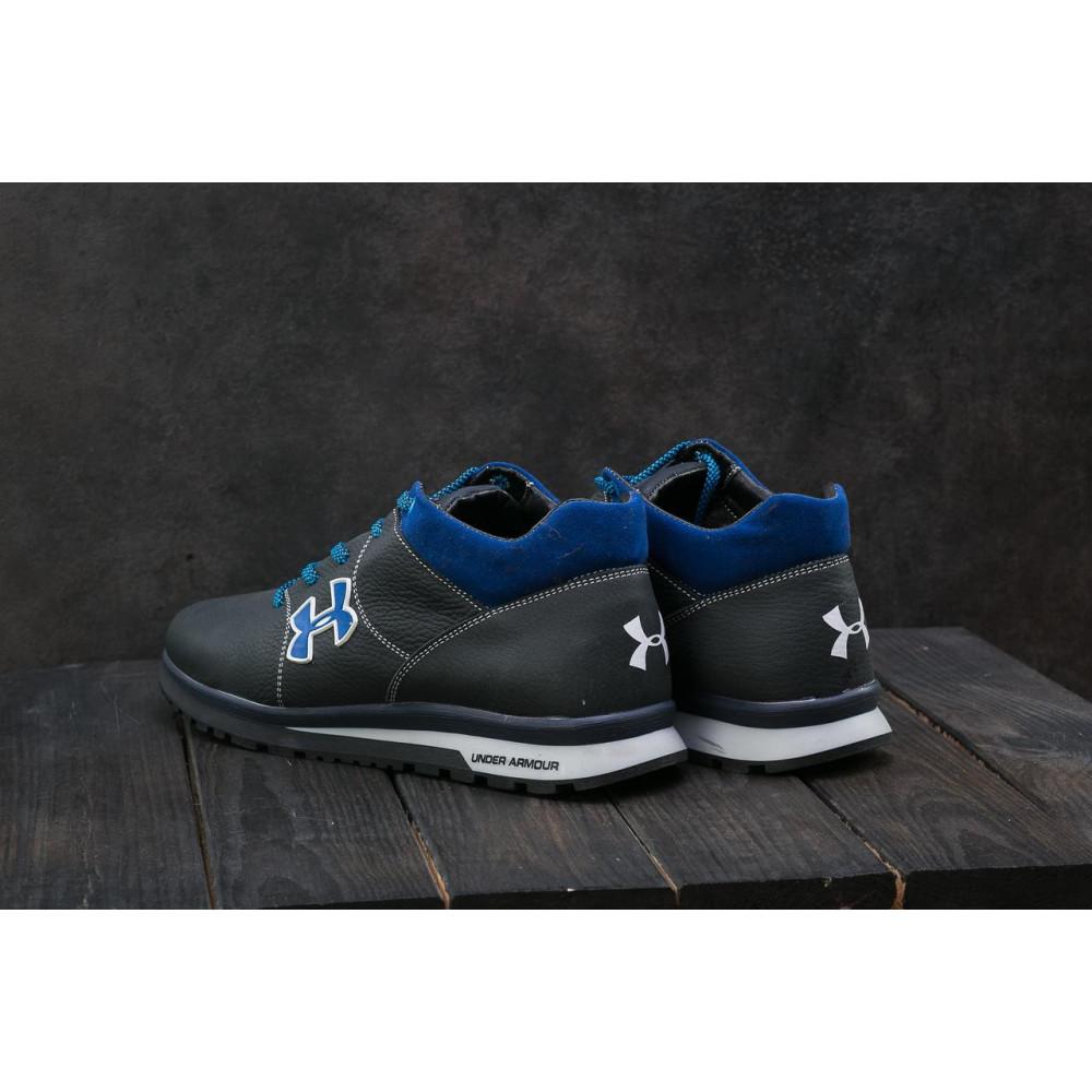 Зимние кроссовки мужские - Мужские кроссовки кожаные зимние черные-серые CrosSAV 121 8