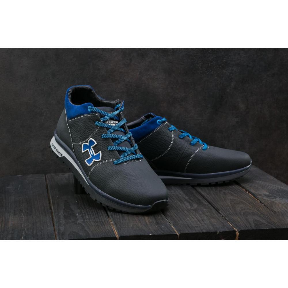 Зимние кроссовки мужские - Мужские кроссовки кожаные зимние черные-серые CrosSAV 121 6