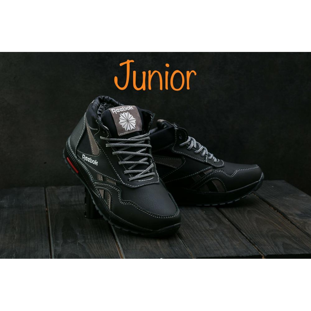 Зимние кроссовки мужские - Мужские кроссовки кожаные зимние синие-красные CrosSAV 50