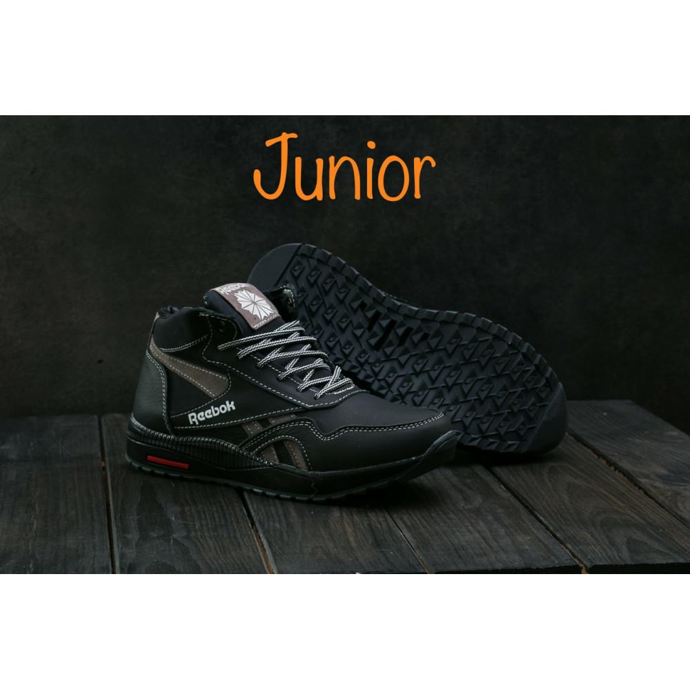 Зимние кроссовки мужские - Мужские кроссовки кожаные зимние синие-красные CrosSAV 50 4