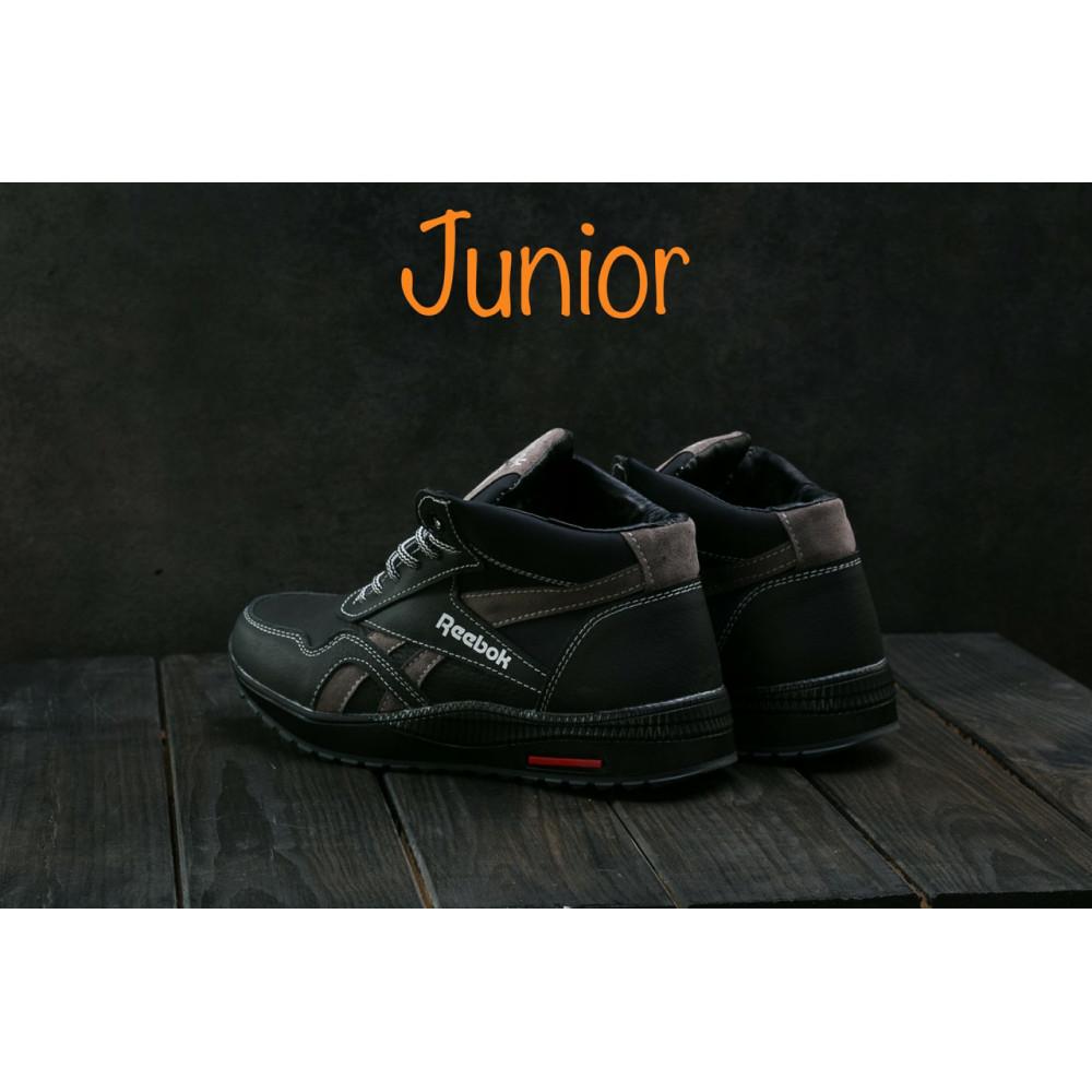Зимние кроссовки мужские - Мужские кроссовки кожаные зимние синие-красные CrosSAV 50 3