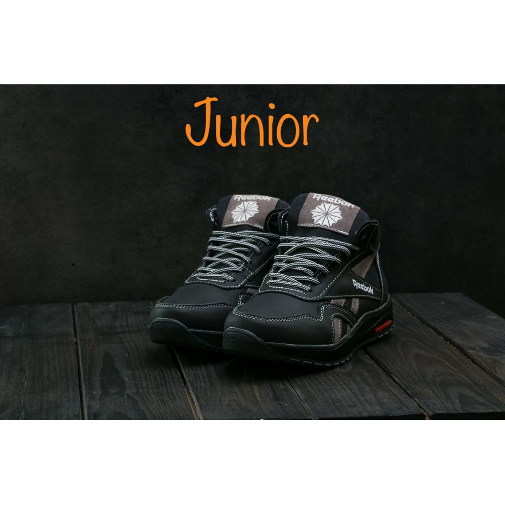 Зимние кроссовки мужские - Мужские кроссовки кожаные зимние синие-красные CrosSAV 50 1