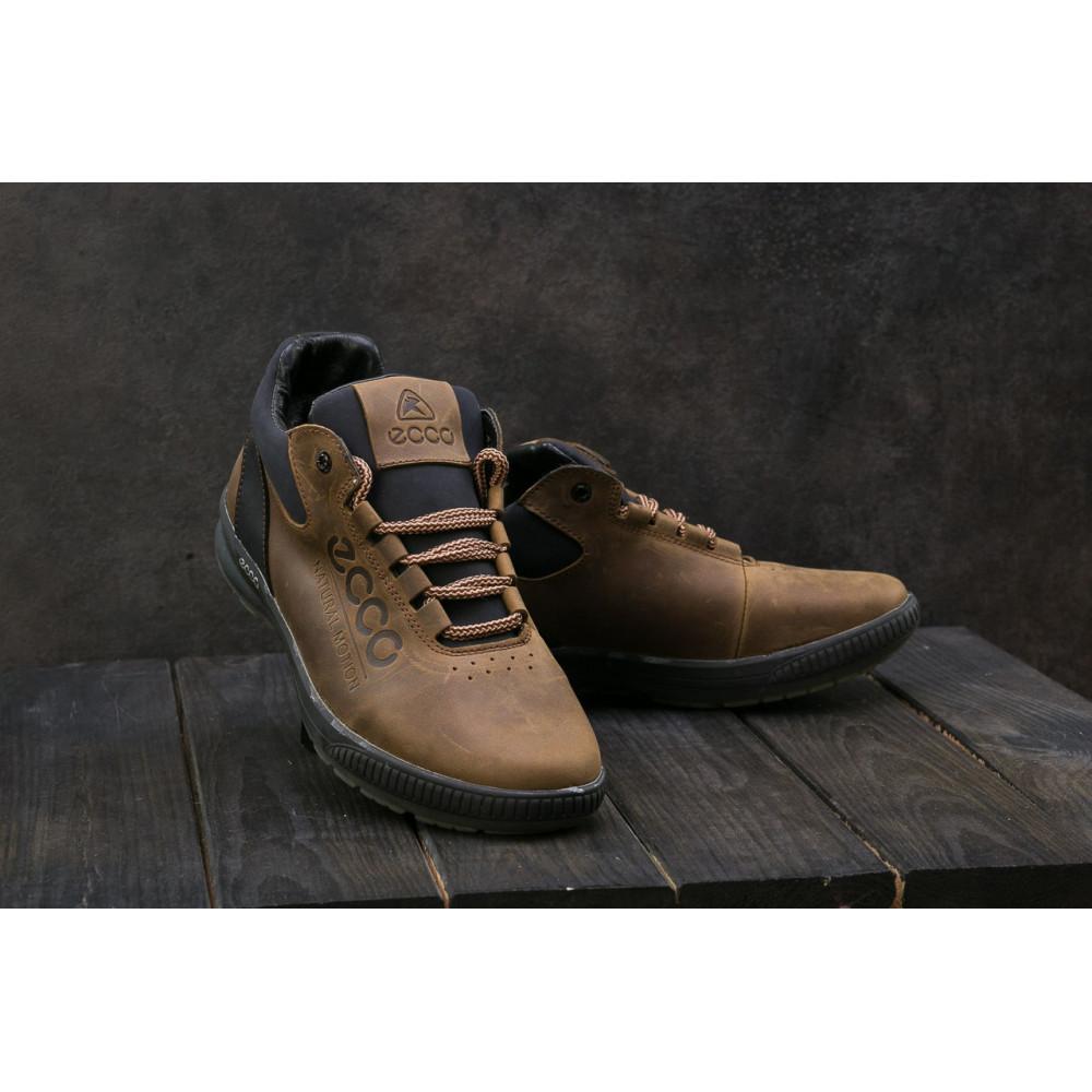 Зимние кроссовки мужские - Мужские кроссовки кожаные зимние черные CrosSAV 38
