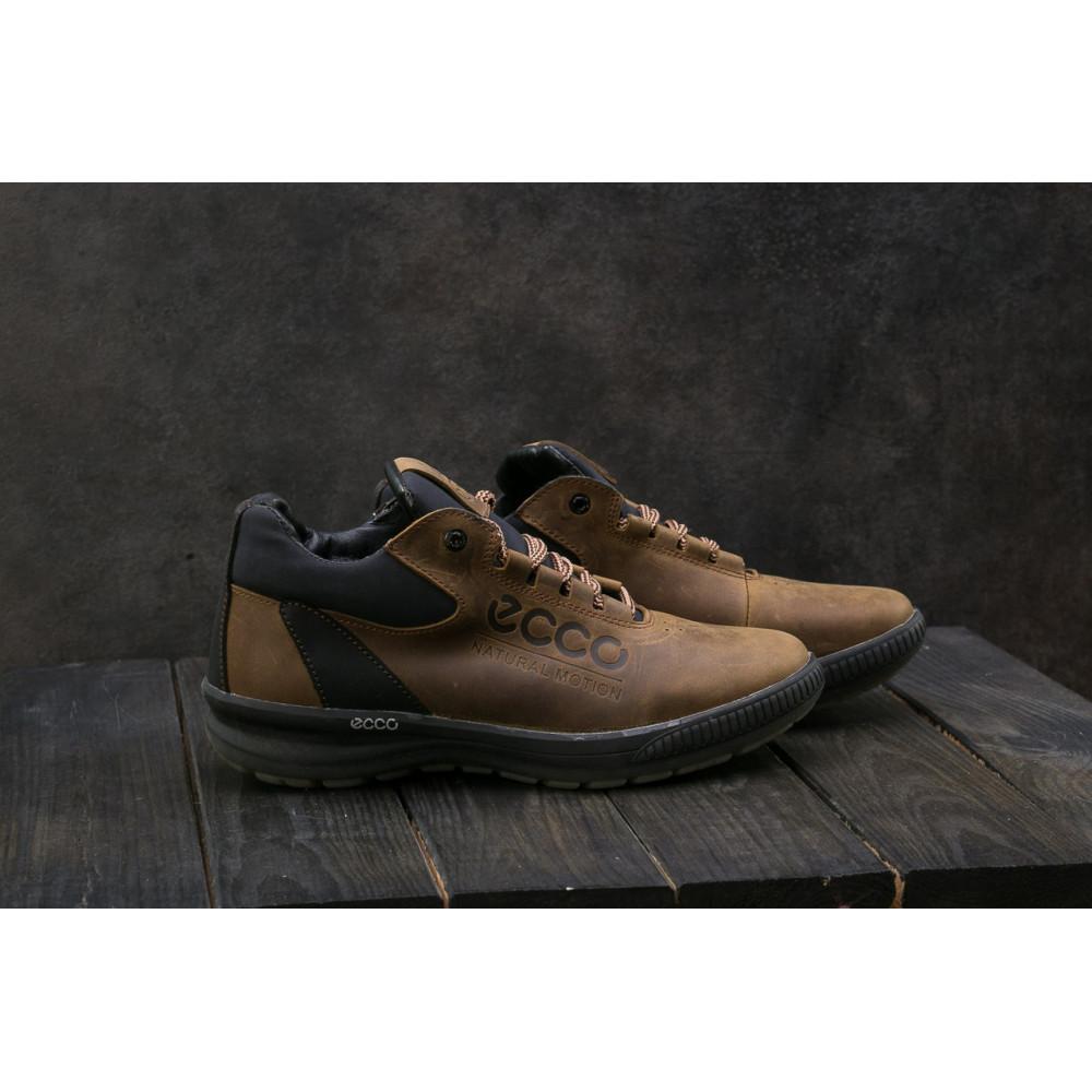 Зимние кроссовки мужские - Мужские кроссовки кожаные зимние черные CrosSAV 38 8