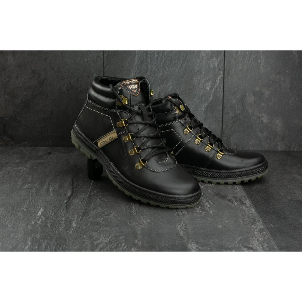 Мужские ботинки зимние - Мужские ботинки кожаные зимние черные Pav 3231 8