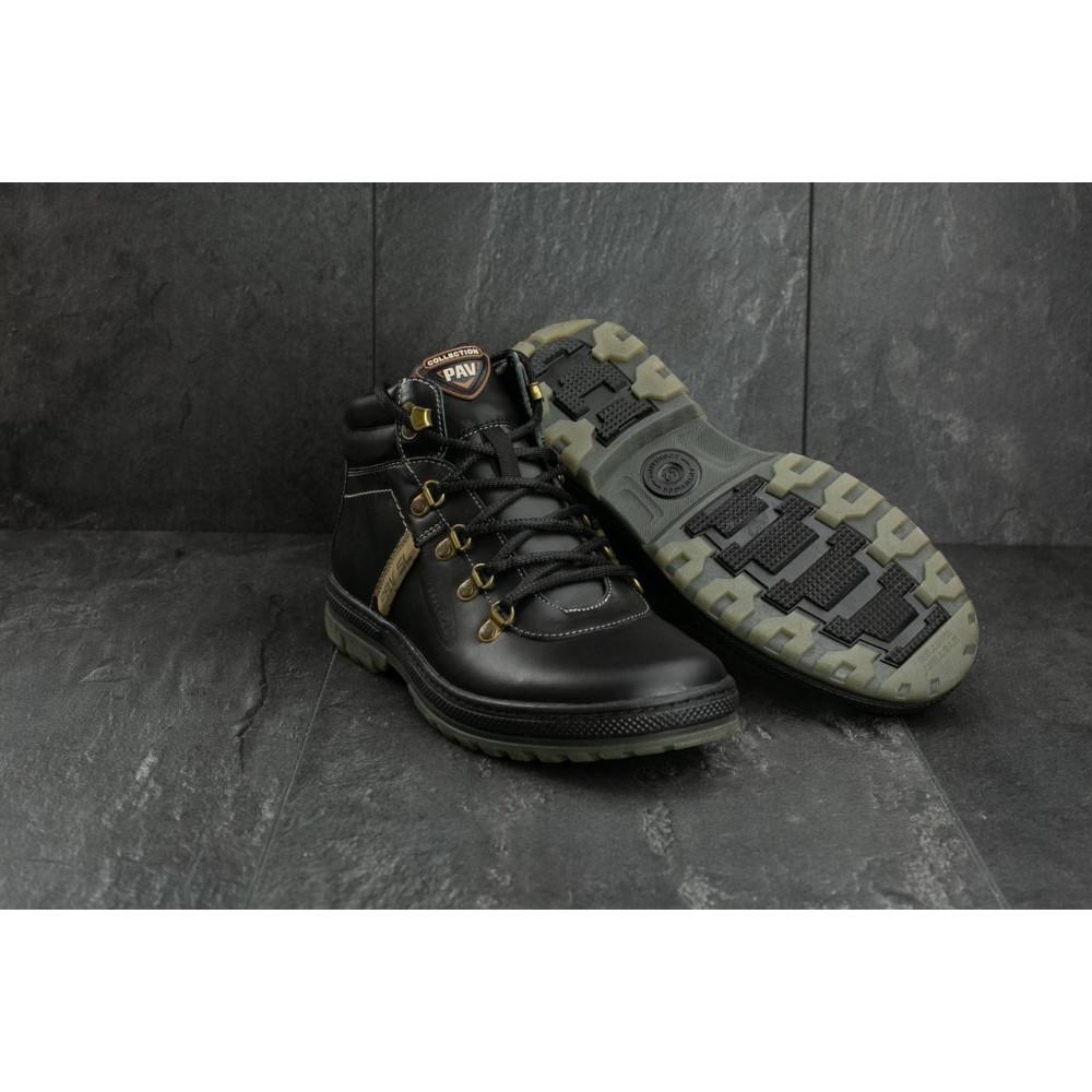 Мужские ботинки зимние - Мужские ботинки кожаные зимние черные Pav 3231 9