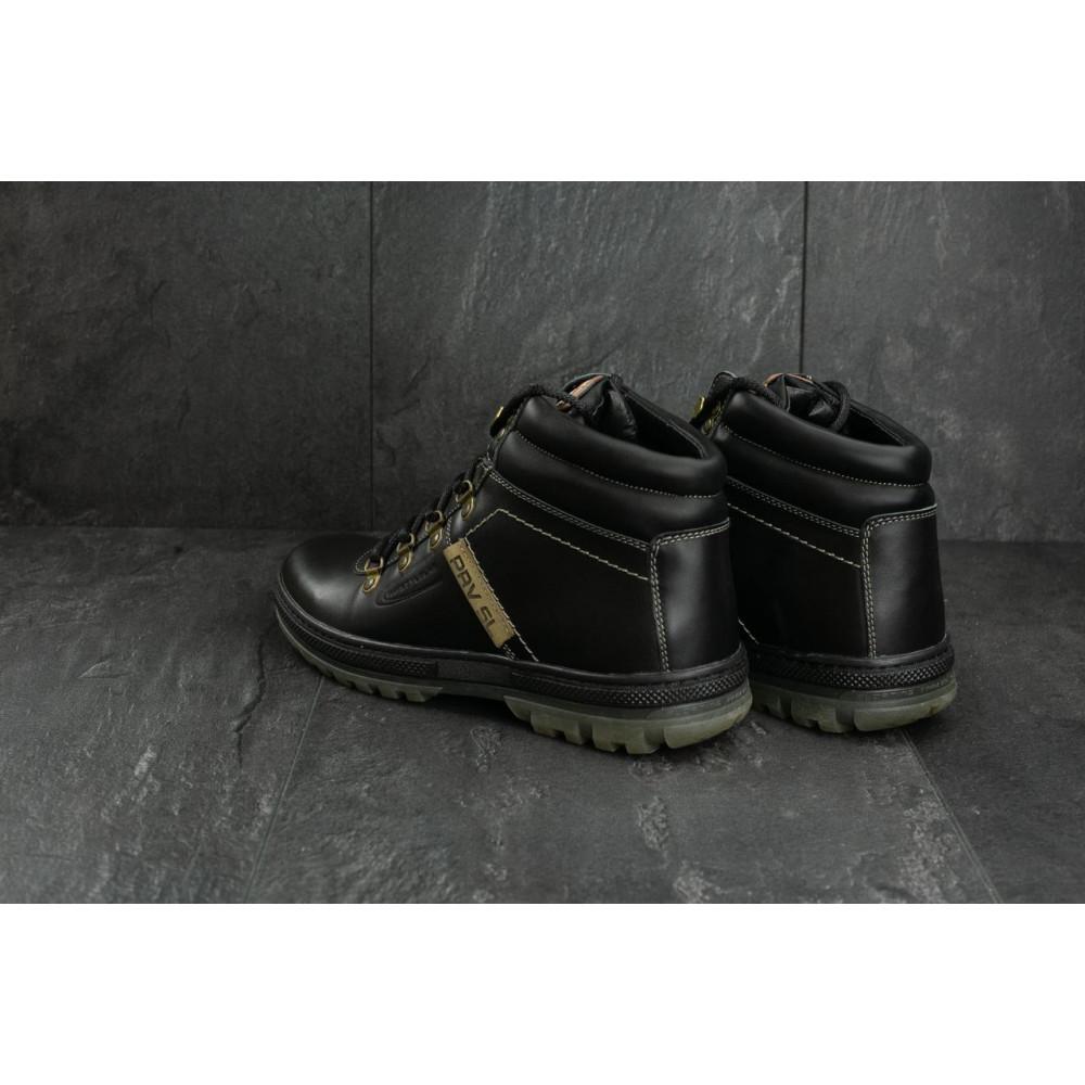 Мужские ботинки зимние - Мужские ботинки кожаные зимние черные Pav 3231 7