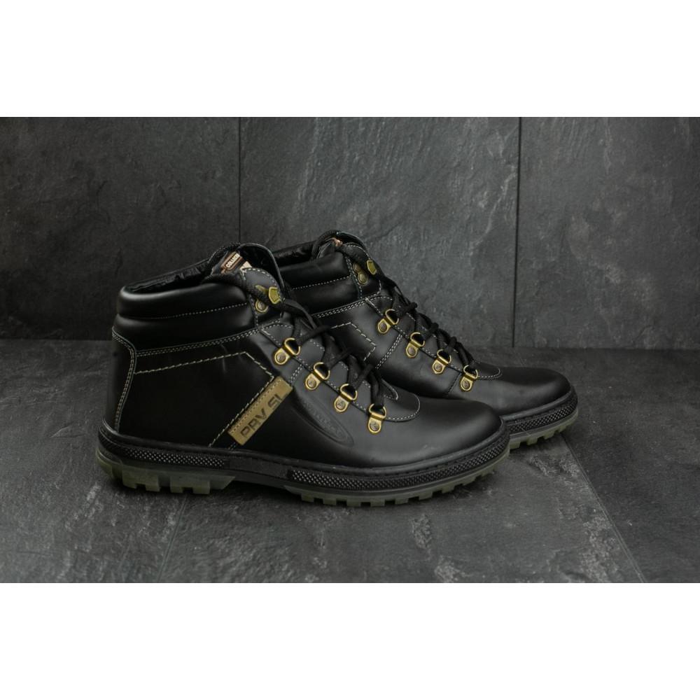 Мужские ботинки зимние - Мужские ботинки кожаные зимние черные Pav 3231 6