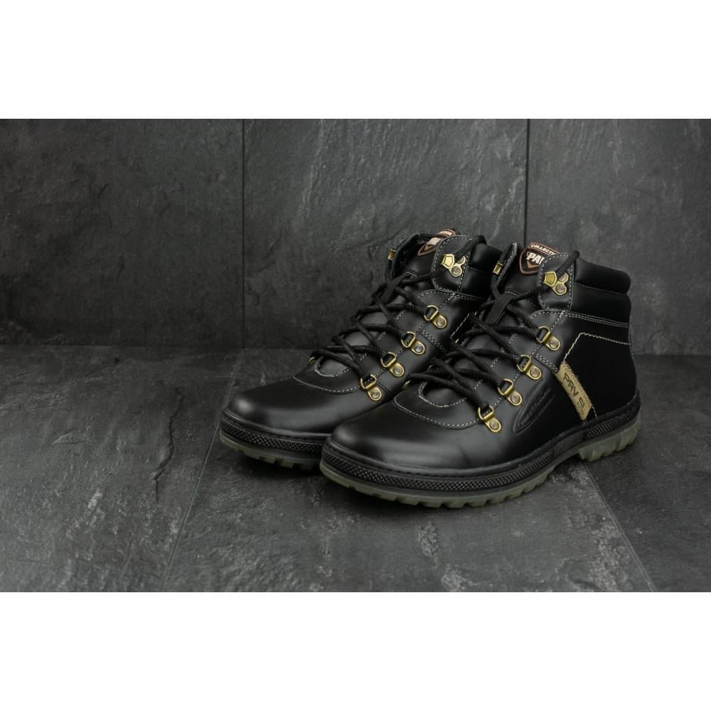 Мужские ботинки зимние - Мужские ботинки кожаные зимние черные Pav 3231 5