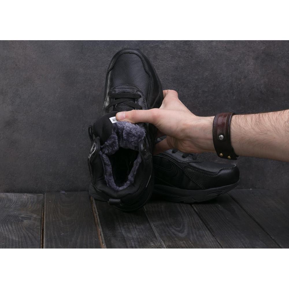Зимние кроссовки мужские - Мужские кроссовки кожаные зимние черные Baas A 2109 -1 4