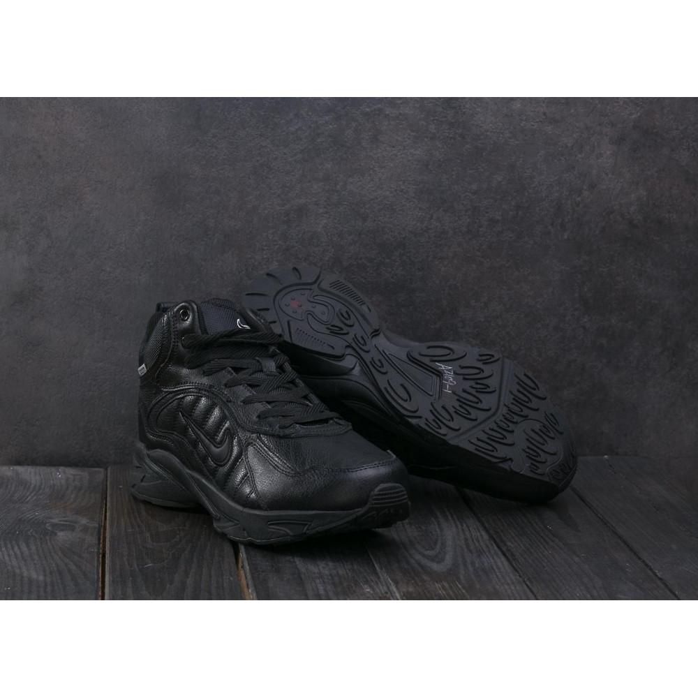 Зимние кроссовки мужские - Мужские кроссовки кожаные зимние черные Baas A 2109 -1 3
