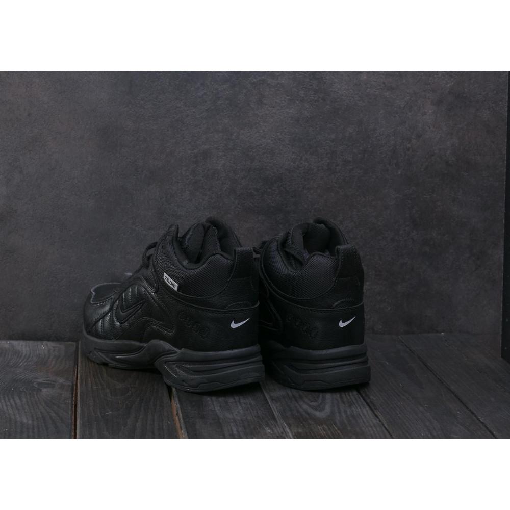 Зимние кроссовки мужские - Мужские кроссовки кожаные зимние черные Baas A 2109 -1 2