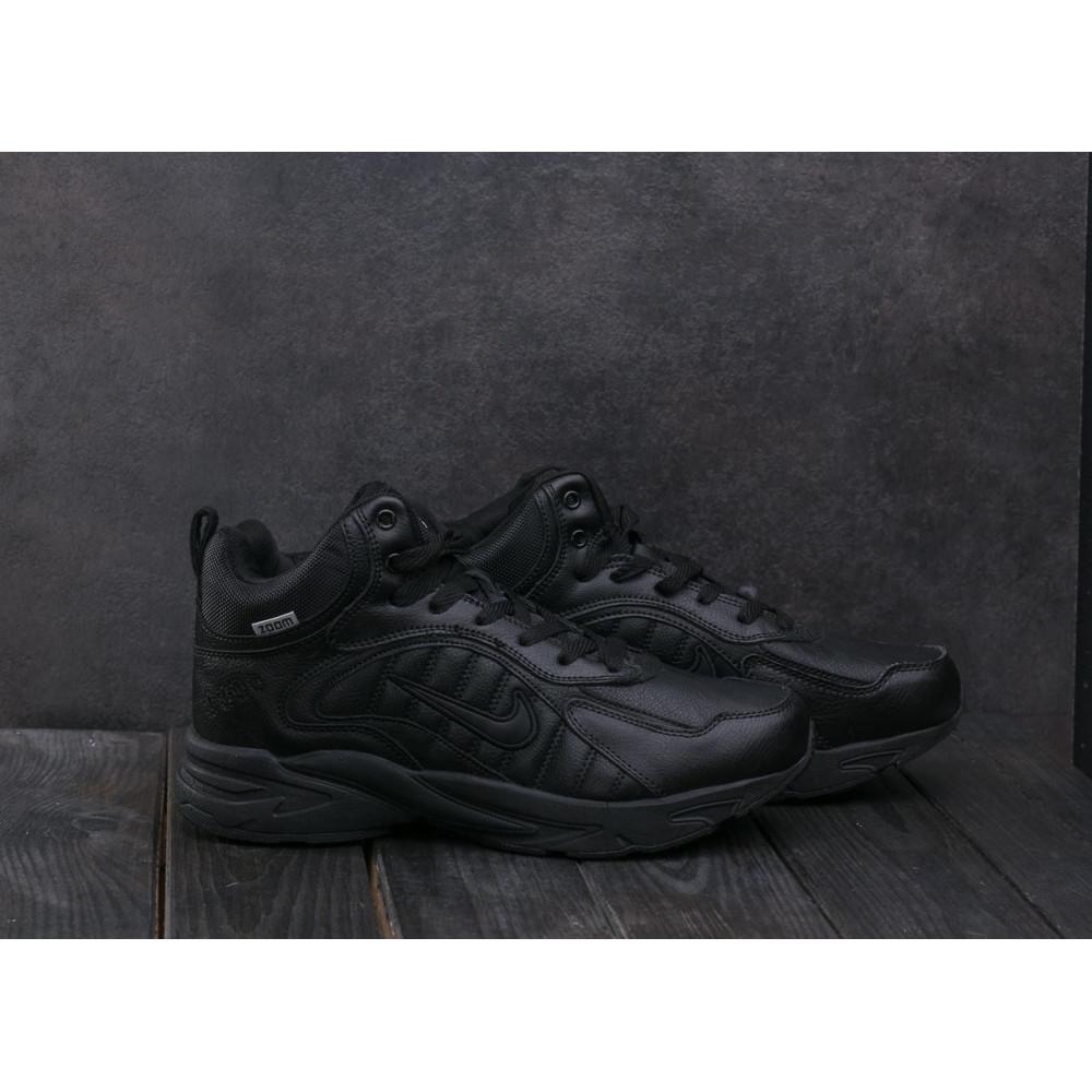 Зимние кроссовки мужские - Мужские кроссовки кожаные зимние черные Baas A 2109 -1 1