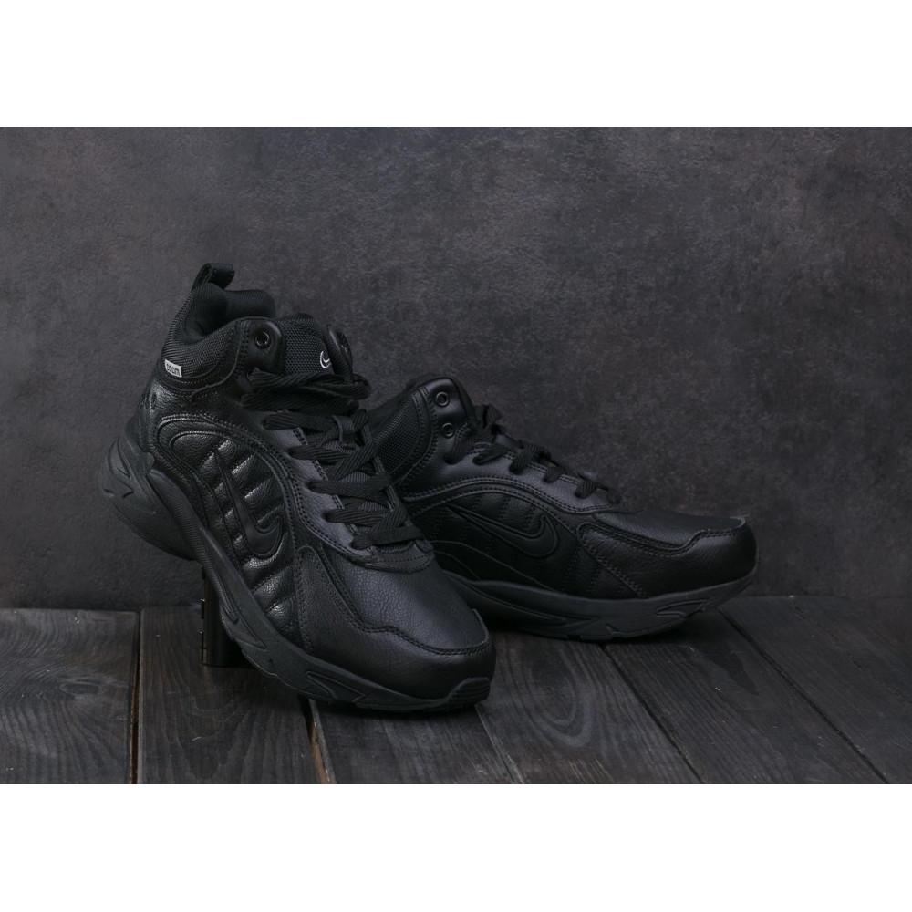 Зимние кроссовки мужские - Мужские кроссовки кожаные зимние черные Baas A 2109 -1