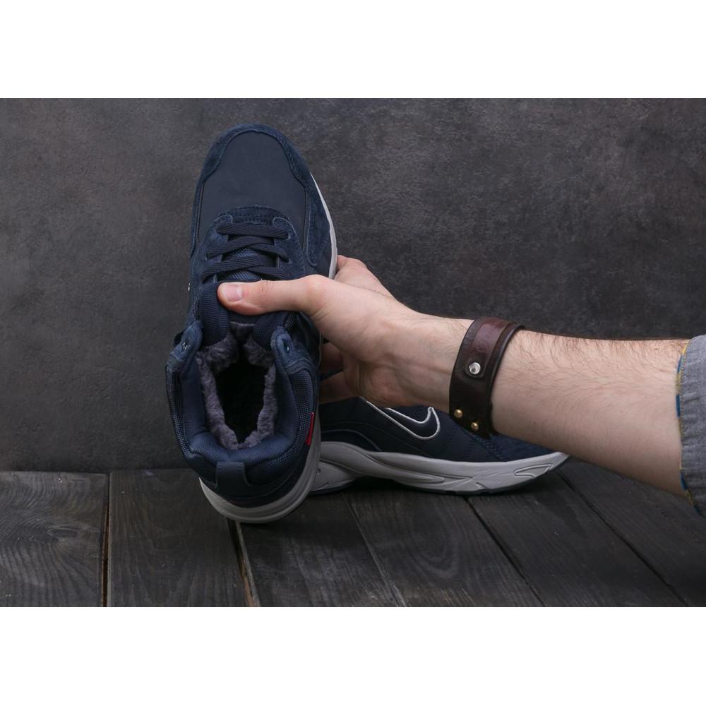 Зимние кроссовки мужские - Мужские кроссовки кожаные зимние синие Baas A 2109 -3 4