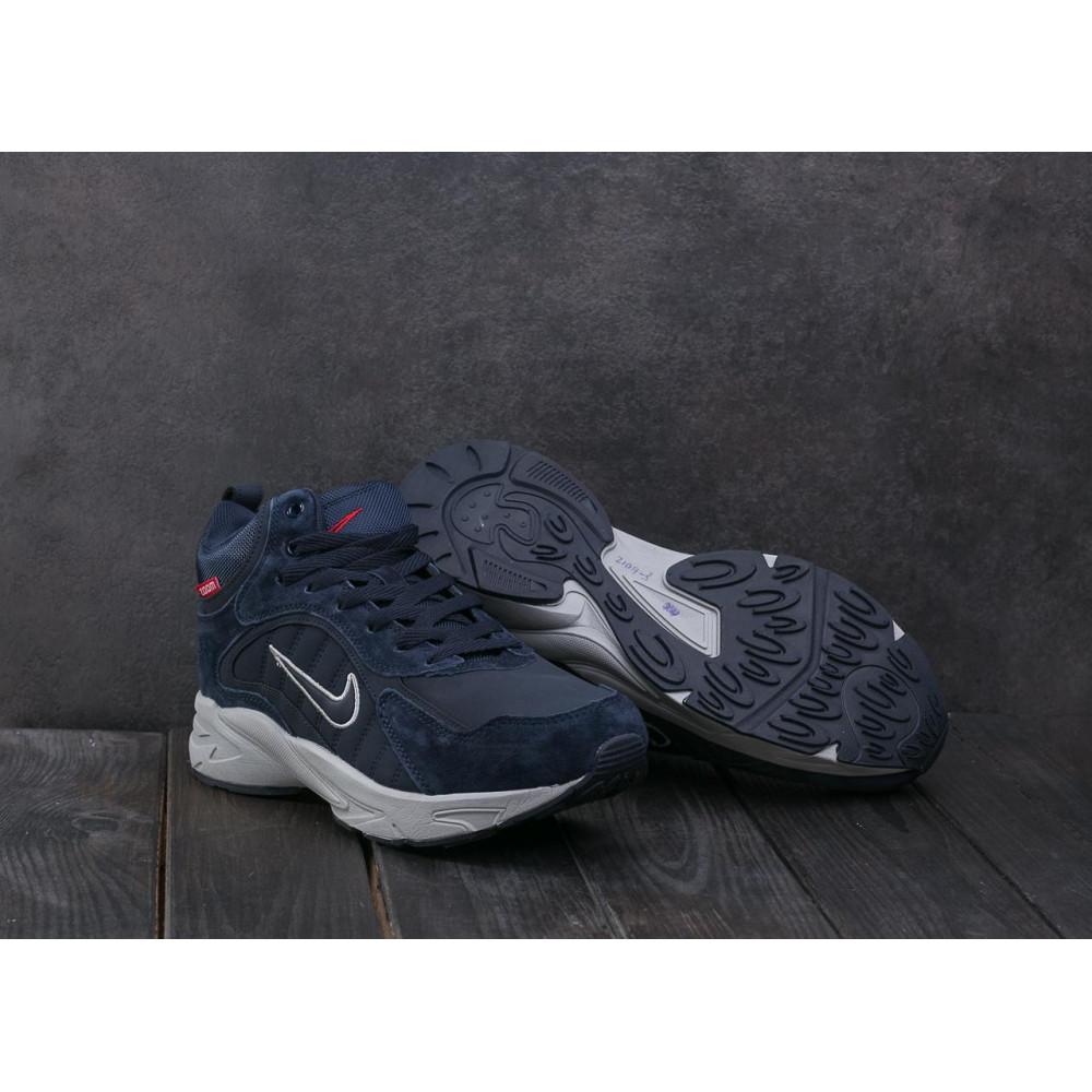 Зимние кроссовки мужские - Мужские кроссовки кожаные зимние синие Baas A 2109 -3 3
