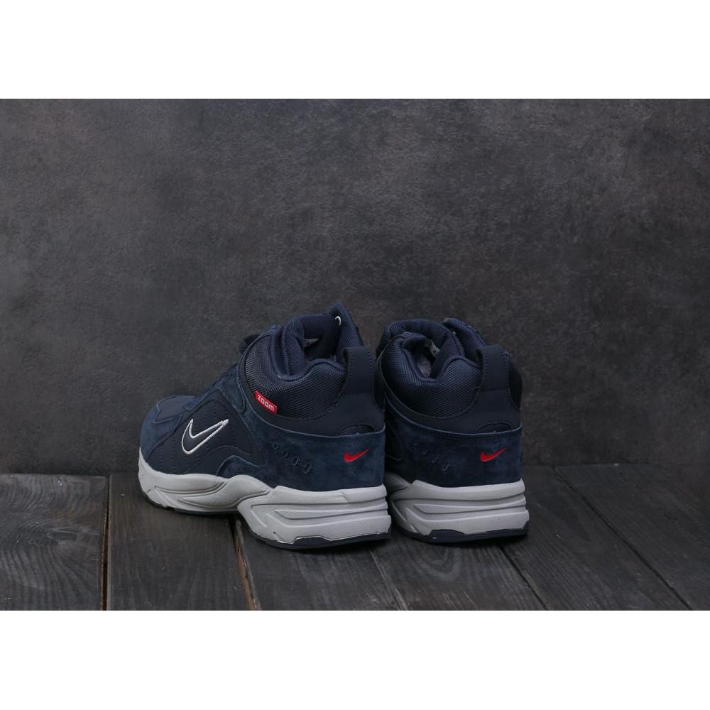 Зимние кроссовки мужские - Мужские кроссовки кожаные зимние синие Baas A 2109 -3 2