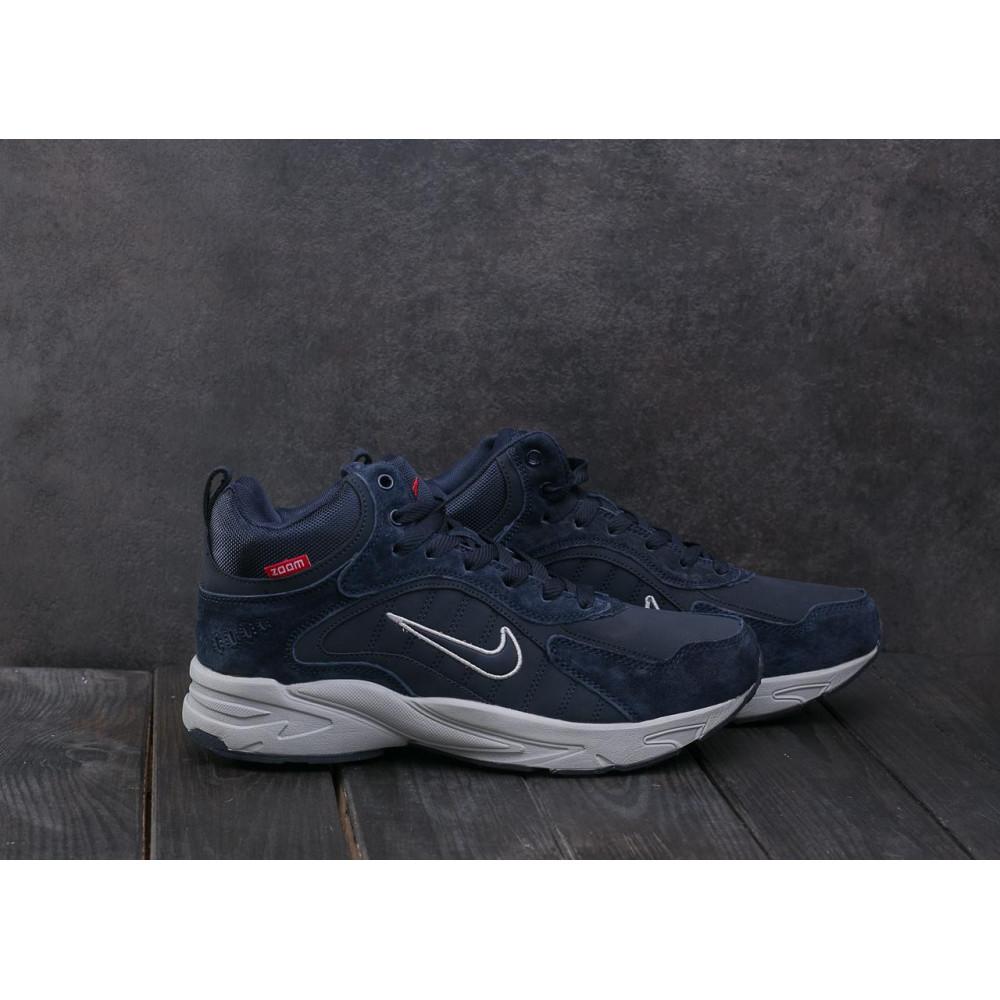 Зимние кроссовки мужские - Мужские кроссовки кожаные зимние синие Baas A 2109 -3 1