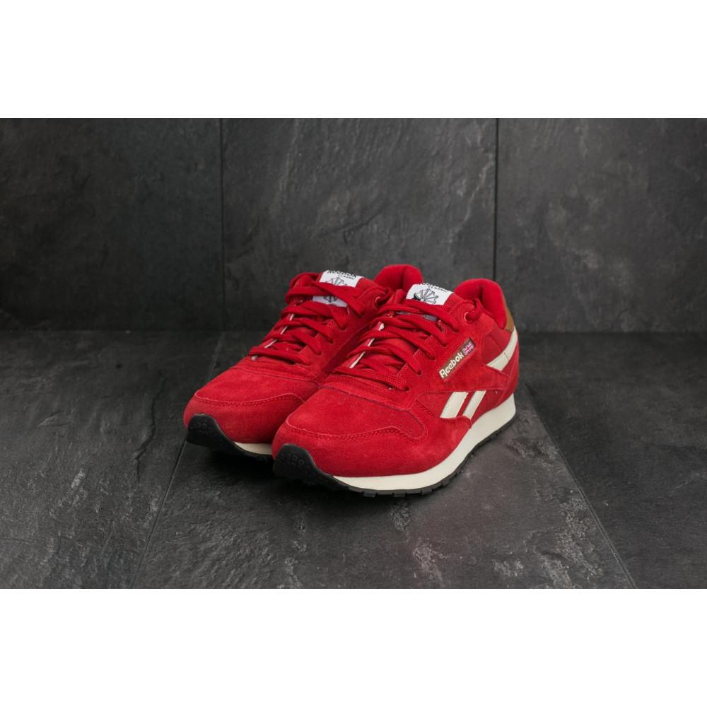 Классические кроссовки мужские - Мужские кроссовки искусственная замша весна/осень красные Classica G 9168 -10 4
