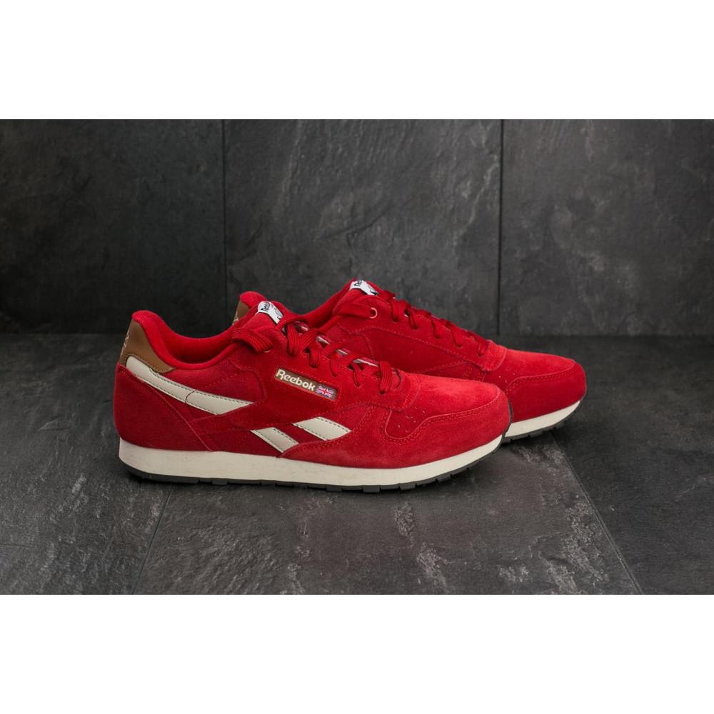 Классические кроссовки мужские - Мужские кроссовки искусственная замша весна/осень красные Classica G 9168 -10 3