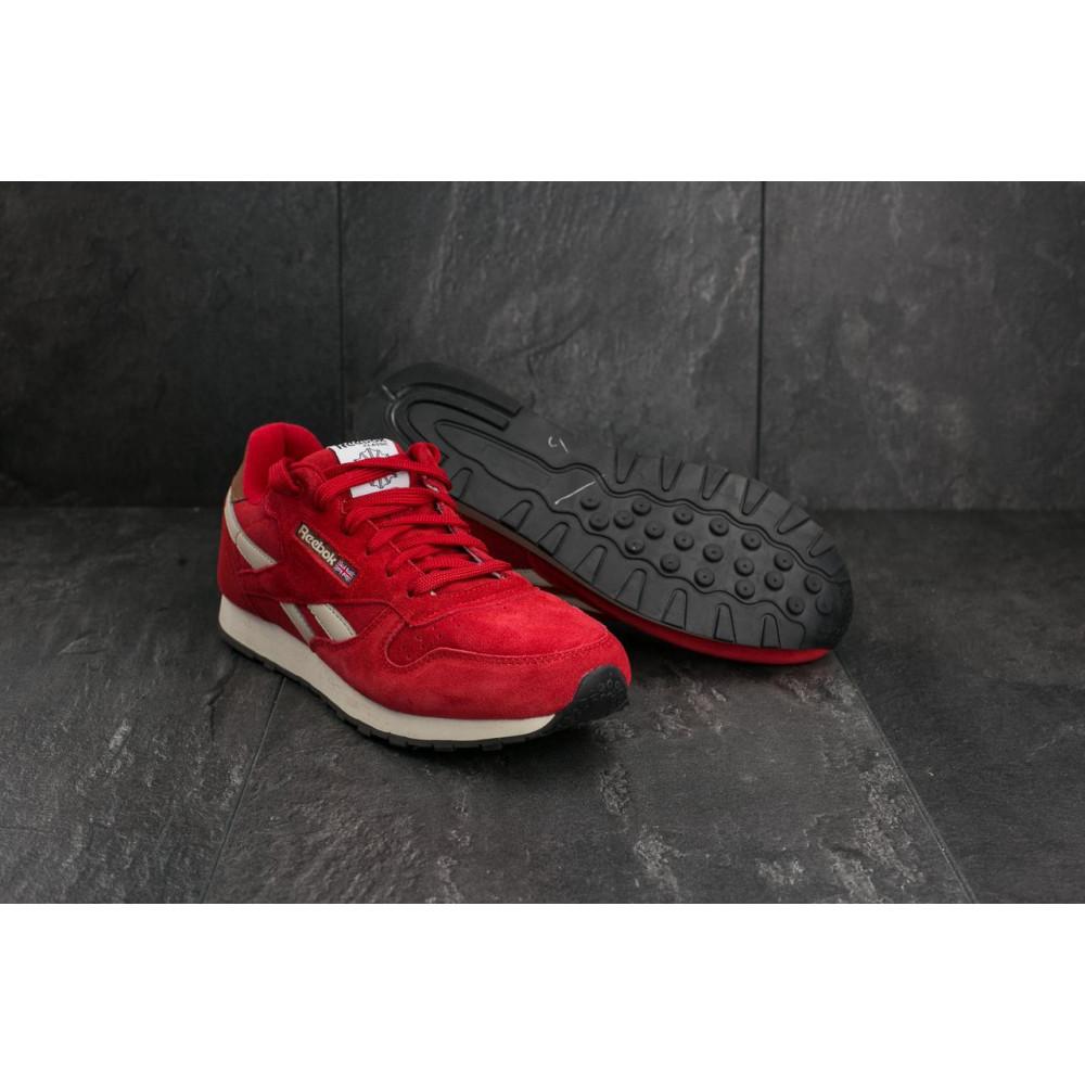 Классические кроссовки мужские - Мужские кроссовки искусственная замша весна/осень красные Classica G 9168 -10 1