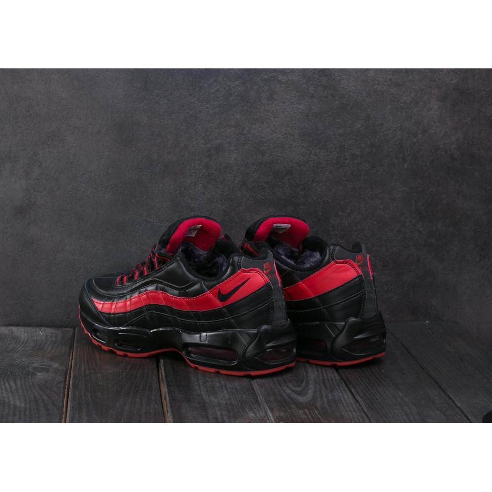 Зимние кроссовки мужские - Мужские кроссовки искусственная кожа зимние черные-красные Ditof A 1895 -16 4