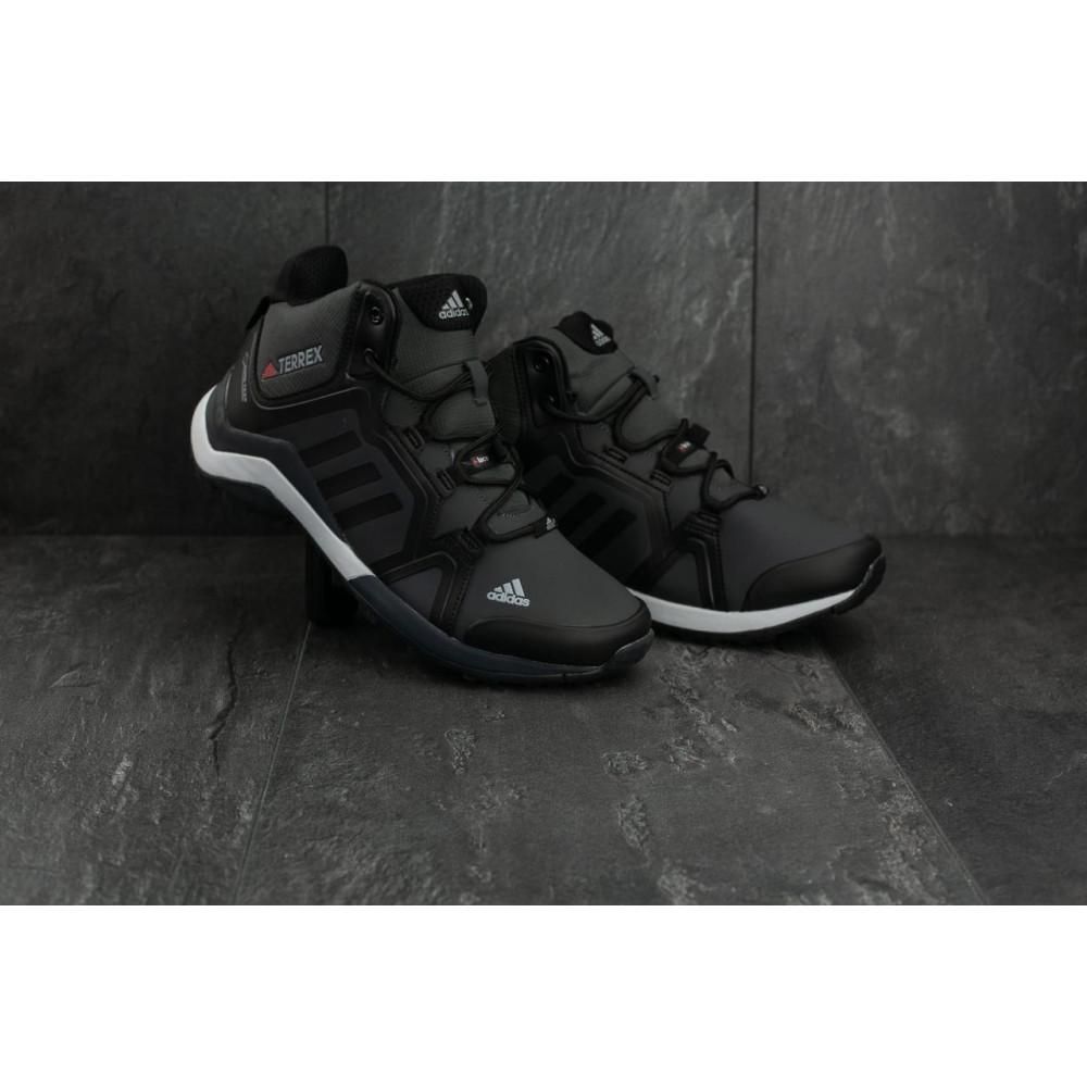 Зимние кроссовки мужские - Мужские кроссовки искусственная кожа зимние черные-серые Baas A 2089 -2