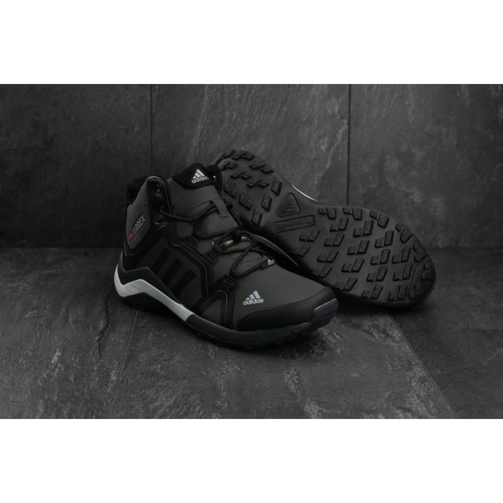 Зимние кроссовки мужские - Мужские кроссовки искусственная кожа зимние черные-серые Baas A 2089 -2 1
