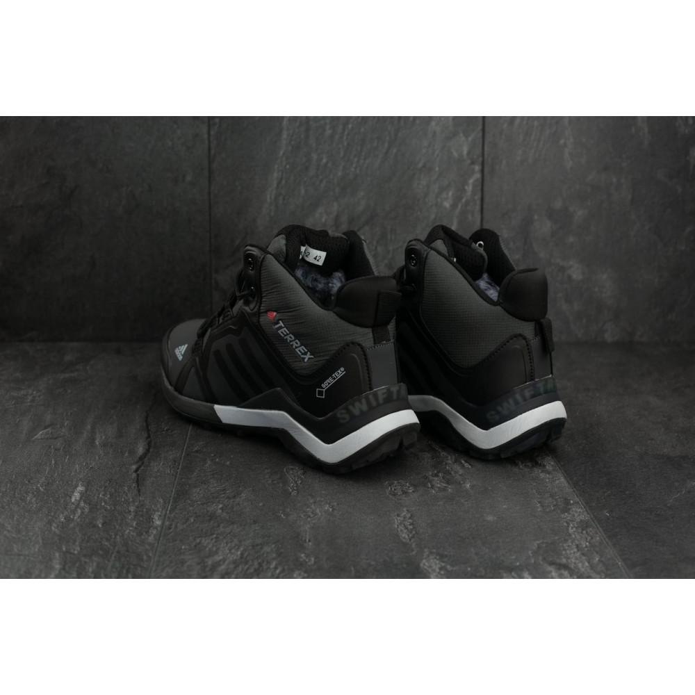 Зимние кроссовки мужские - Мужские кроссовки искусственная кожа зимние черные-серые Baas A 2089 -2 2