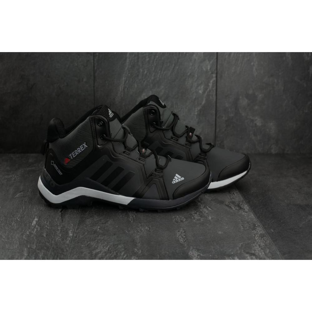 Зимние кроссовки мужские - Мужские кроссовки искусственная кожа зимние черные-серые Baas A 2089 -2 3