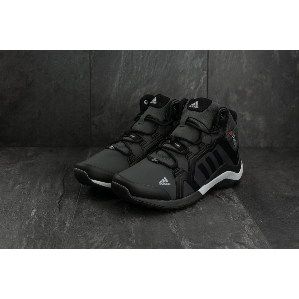 Зимние кроссовки мужские - Мужские кроссовки искусственная кожа зимние черные-серые Baas A 2089 -2 4