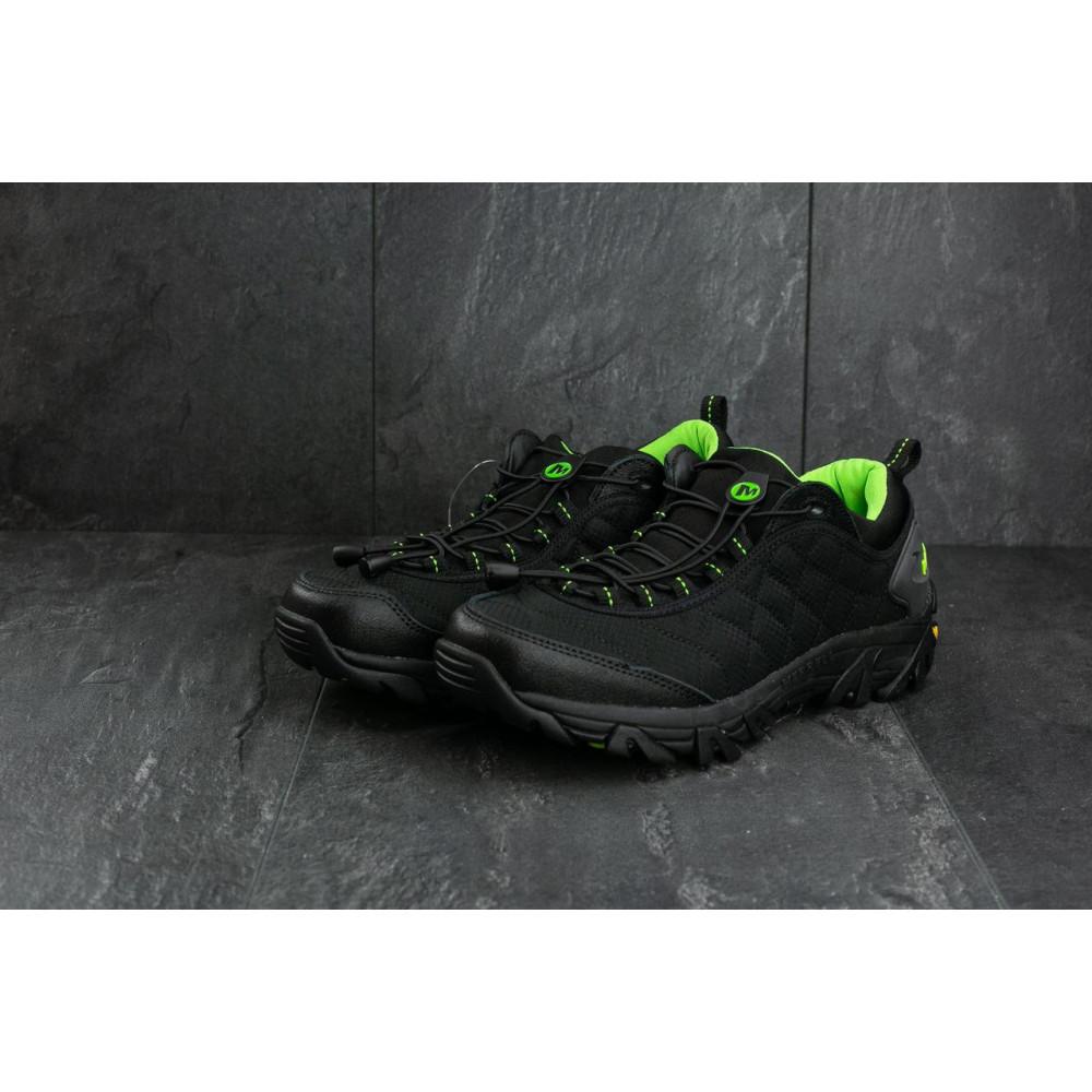 Демисезонные кроссовки мужские   - Мужские кроссовки текстильные весна/осень черные-зеленые Ditof A 741 -5 1