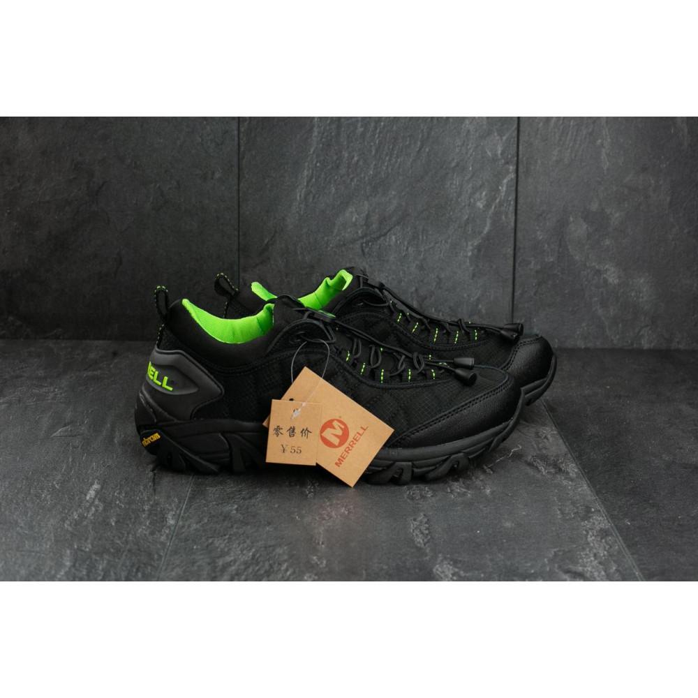 Демисезонные кроссовки мужские   - Мужские кроссовки текстильные весна/осень черные-зеленые Ditof A 741 -5 2