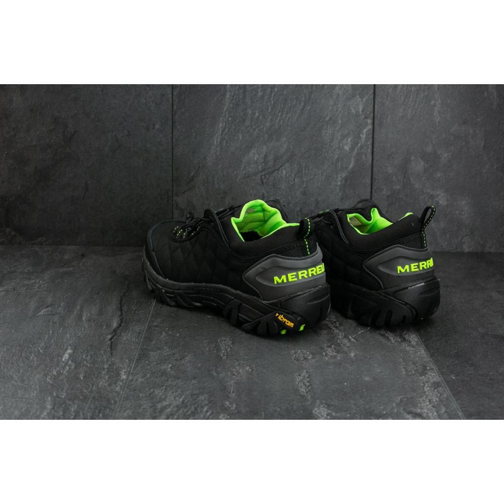 Демисезонные кроссовки мужские   - Мужские кроссовки текстильные весна/осень черные-зеленые Ditof A 741 -5 3