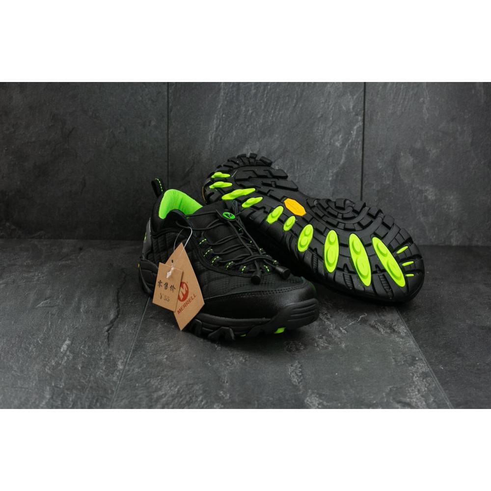 Демисезонные кроссовки мужские   - Мужские кроссовки текстильные весна/осень черные-зеленые Ditof A 741 -5 4