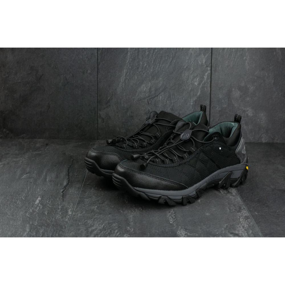 Демисезонные кроссовки мужские   - Мужские кроссовки текстильные весна/осень черные Ditof A 741 -3 1
