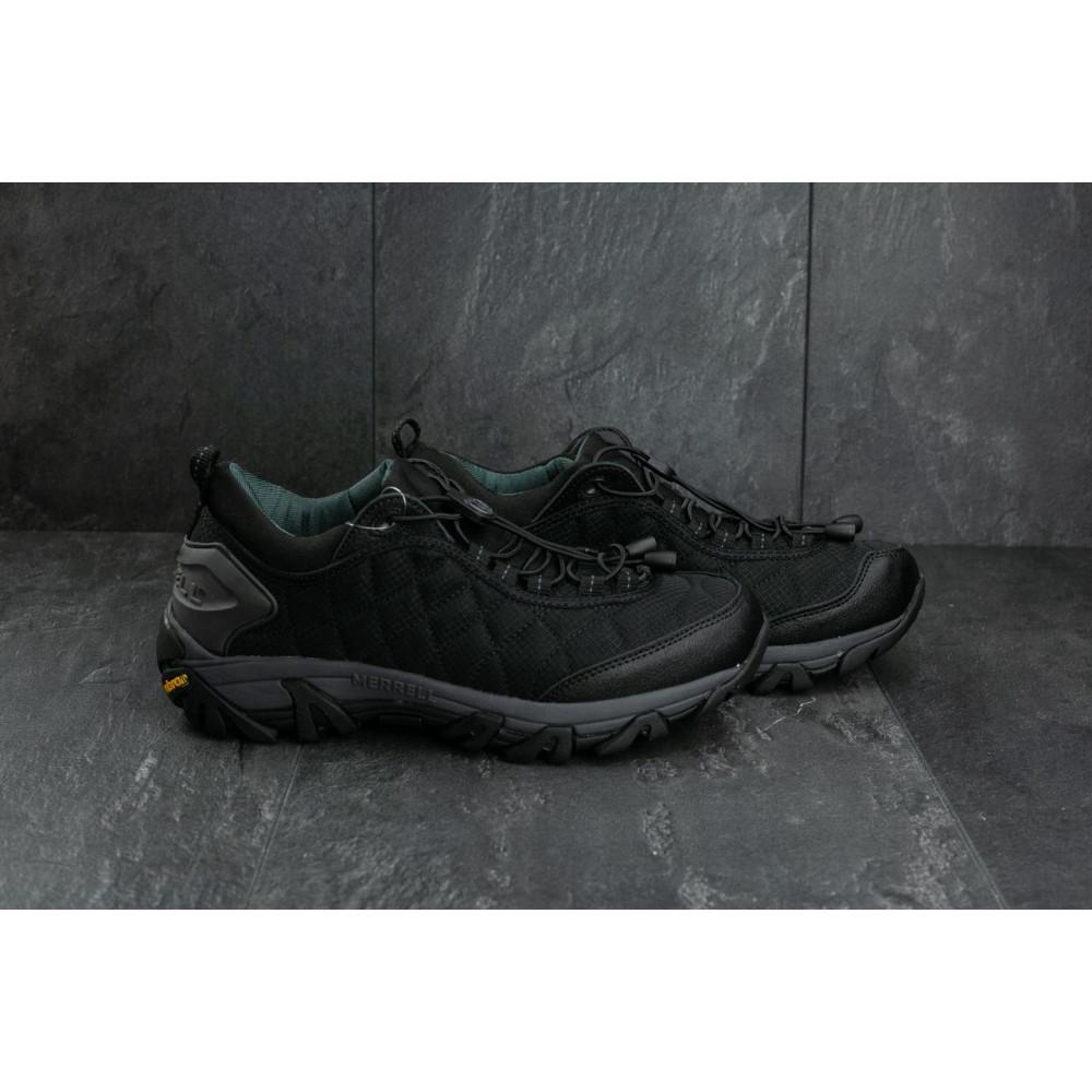 Демисезонные кроссовки мужские   - Мужские кроссовки текстильные весна/осень черные Ditof A 741 -3 2
