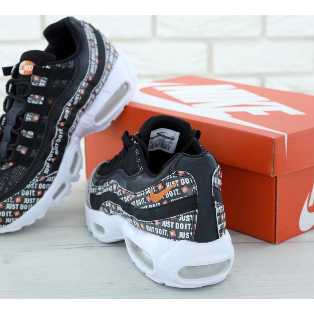 Мужские кроссовки Vibram - Мужские кроссовки Nike Air Max 95 Just Do It черно белого цвета 3