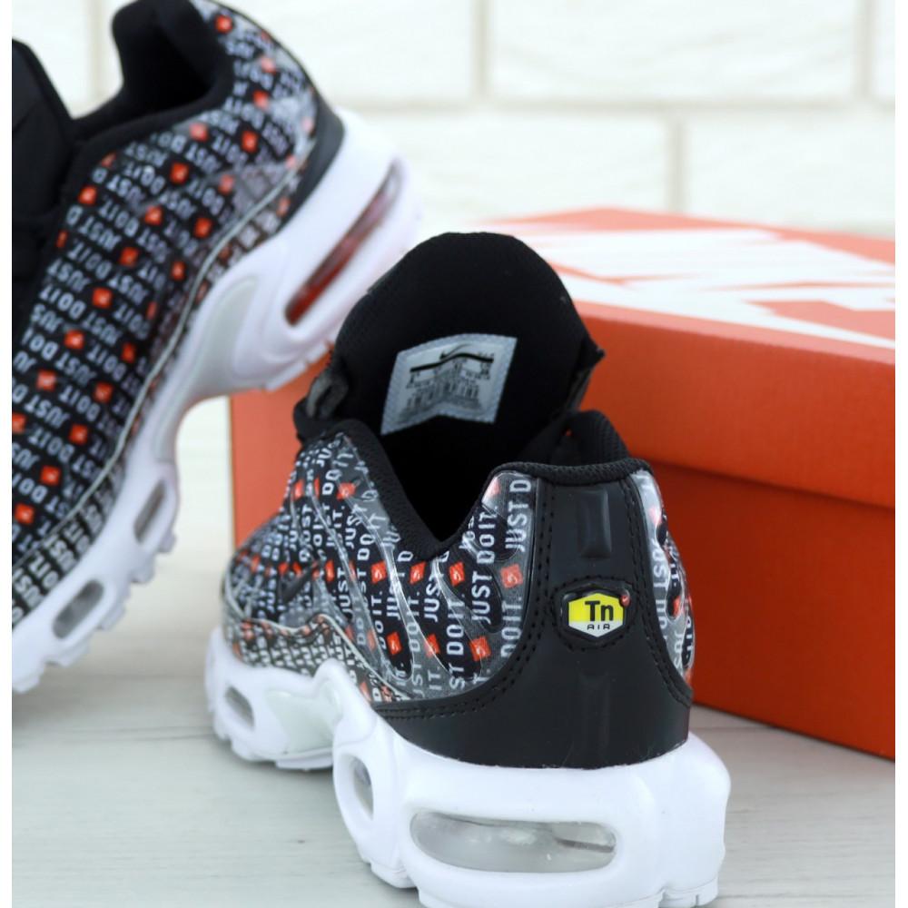 Мужские кроссовки Vibram - Мужские кроссовки Nike Air Max TN Plus Just Do It черно белого цвета 1